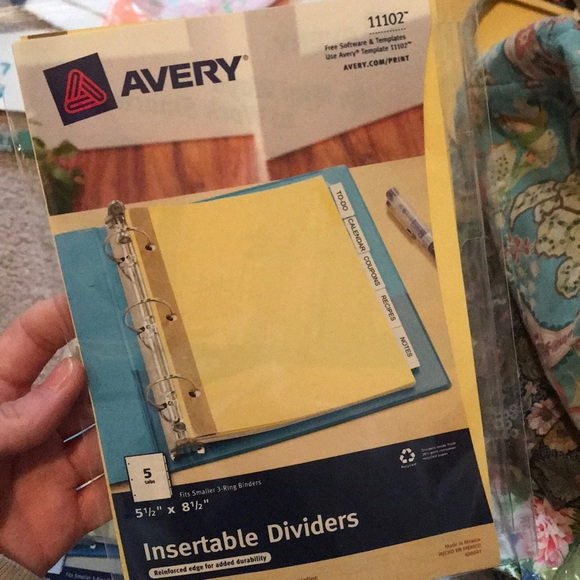 📍Avery 5 tab insertable dividers